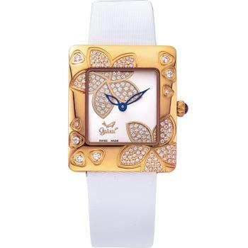Ogival 瑞士愛其華 花漾馨語珠寶腕錶-玫瑰金 380-36DLR