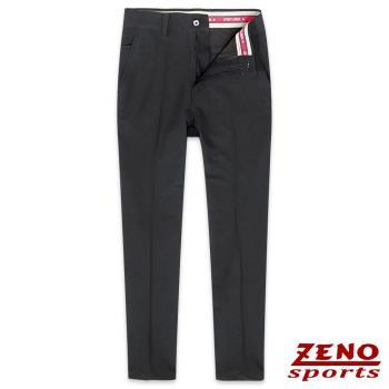 ZENO傑諾 防潑水吸排保暖休閒長褲‧黑色30-42