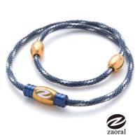 《Zaoral》甦活磁石項圈-藍/金NV/GD (M號)