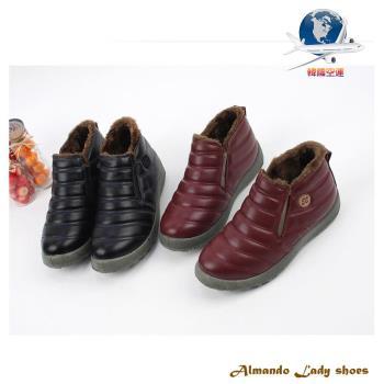 [ALMANDO-SHOES] 內鋪毛加絨休閒鞋/韓國空運/保暖運動鞋