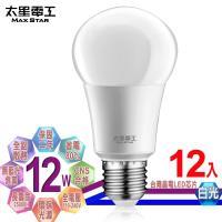 太星電工  LED燈泡 E27/12W/白光(12入)