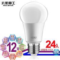 太星電工  LED燈泡 E27/12W/白光(24入)