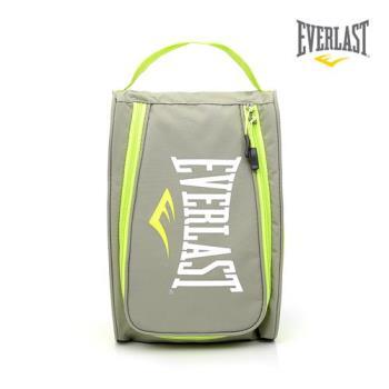 EVERLAST 拳擊運動品牌-鞋袋系列-灰/綠