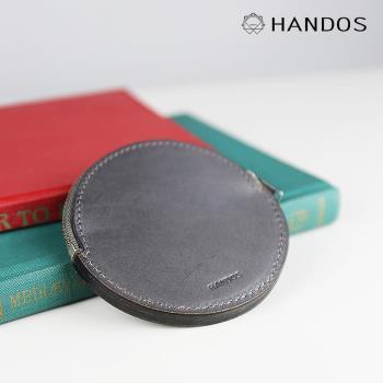 HANDOS - 復古質樸感圓形零錢包-B