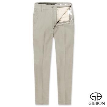 GIBBON slim fit柔棉質感平口休閒褲‧褐色30-42