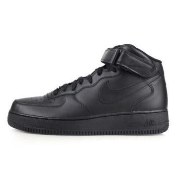 NIKE AIR FORCE 1 MID 07 男女休閒運動鞋-高筒 慢跑 黑
