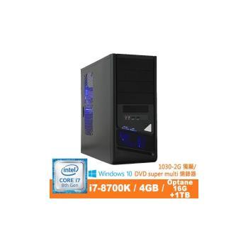 Genuine捷元 UP888 i7-8700K 4核獨顯WIN10P電腦
