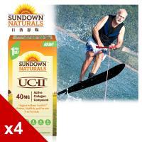 【美國Sundown日落恩賜】勇健UCII®非變性二型膠囊x4瓶組(60粒/瓶)