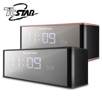 T.C.STAR 電鍍鏡面插卡帶鬧鐘FM多功能藍牙喇叭 / TCS1130
