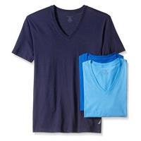 NAUTICA 男時尚藍色系V領短袖內衣混搭3件組(預購)