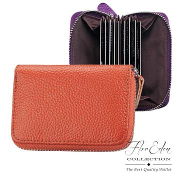 DF Flor Eden皮夾 - 日熱銷款經典牛皮多卡名片夾錢包-共4色