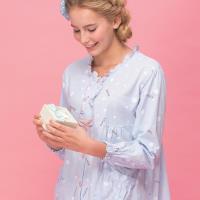 【皮爾卡登】繽紛圓點兩件式鋪棉居家服(藍)
