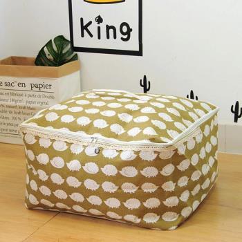 收納職人 衣物棉被大容量防水防塵袋收納袋收納箱50L 綠底小刺蝟