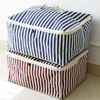 收納職人 衣物棉被大容量防水防塵袋收納袋收納箱50L 紅白條