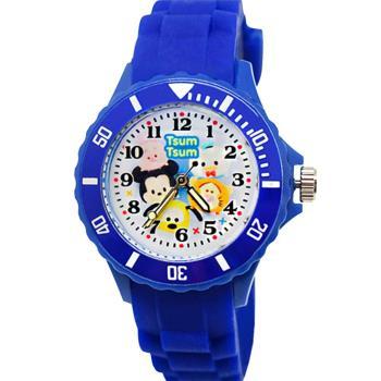 【迪士尼 Tsum Tsum】運動彩帶轉圈兒童錶 - 米奇、小豬、布魯托、跳跳虎、唐老鴨(中)