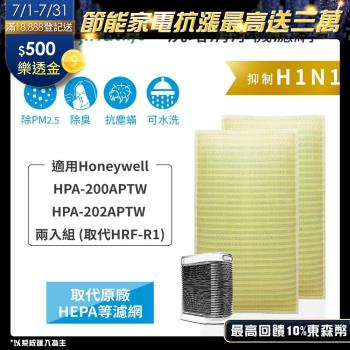 【Original Life】適用Honeywell:HPA-200APTW/HPA-202APTW(取代HRF-R1) (2入)超淨化空氣清淨機濾網