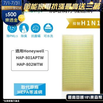【Original Life】長效可水洗★ 超淨化空氣清淨機濾網 適用Honeywell:HAP-801APTW