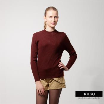 KIINO(MIT)保暖百搭高質感羊毛衫-咖啡