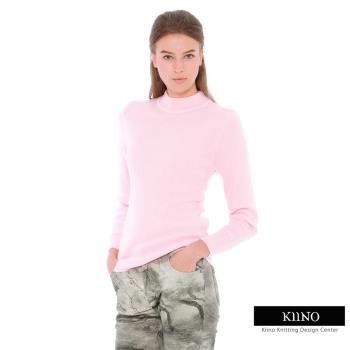 KIINO(MIT)保暖百搭高質感羊毛衫-粉紅