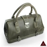 【H-CT】時尚墨綠色設計款真皮手提包(UM1343-Z)