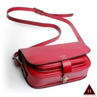【H-CT】純手工個性設計款真皮斜背包(ZD-D702紅-Z)