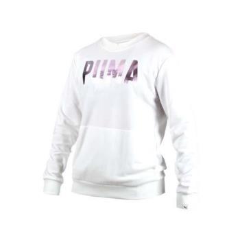 PUMA FUSION女長袖圓領衫-長T T恤 慢跑 白玫瑰金