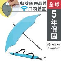 保蘭特 抗強風功能完全抗UV經典直傘-風格藍