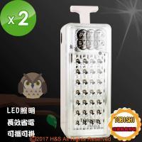 TOBISHI可攜式充電LED長效照明器2入組
