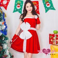 天使霓裳 角色扮演 送禮甜心 聖誕連身裙派對表演服(紅F) KR1524