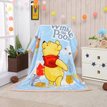 【Disney迪士尼】小熊維尼頂級加厚法蘭絨休閒毯