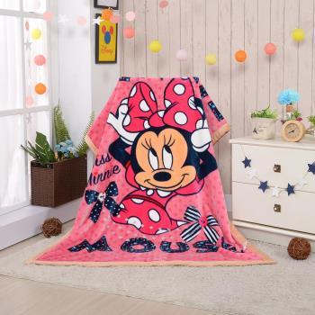 【Disney迪士尼】俏皮米妮頂級加厚法蘭絨休閒毯