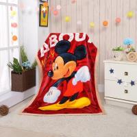 【Disney迪士尼】熱情米奇頂級加厚法蘭絨休閒毯