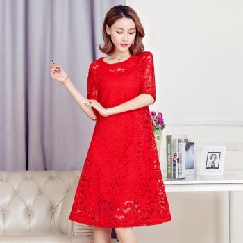 jisen-溫婉柔雅二件套蕾絲洋裝