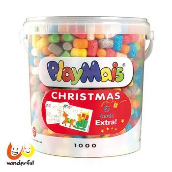 【 Playmais 】玩玉米創意黏土 耶誕超值桶