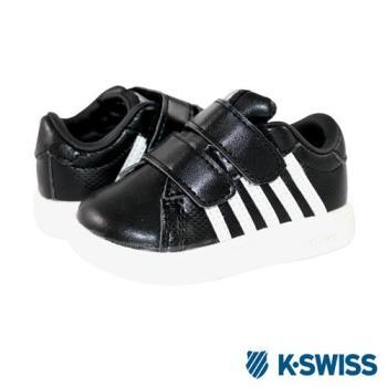 K-Swiss Hoke Strap休閒運動鞋-童-黑/白
