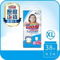 GOO.N日本大王尿布 女褲型XL-境內版透氣舒柔(38片X3串)(新舊版隨機出貨)
