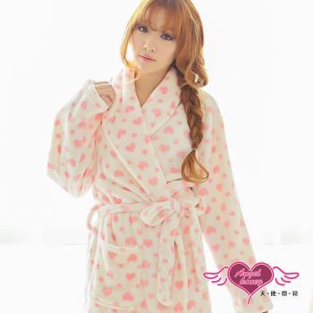 天使霓裳 滿心甜愛 居家法蘭絨綁帶睡袍(共2色F)