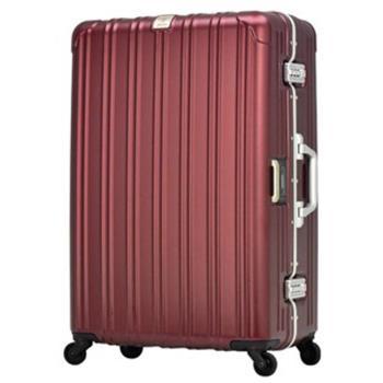 日本 LEGEND WALKER 6201L-62-25吋 電子秤行李箱 消光紅