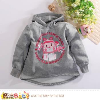 魔法Baby 女童裝 POLI正版安寶款厚暖絨連帽T恤~k60551