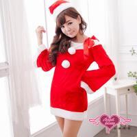 【天使霓裳】聖誕服 愛在聖誕 耶誕舞會角色扮演表演服(紅F) GJ14101