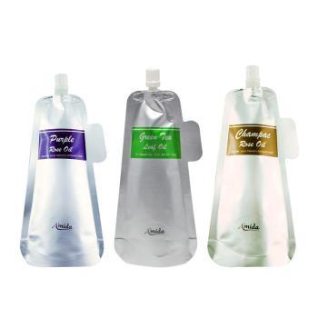 AMIDA香檳玫瑰/紫玫瑰/綠茶葉油 補充包100ml 2入組