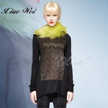CHENG DA 秋冬專櫃精品女裝時尚流行羊毛長袖上衣 NO.589725