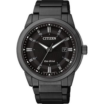 CITIZEN Eco-Drive 都會時尚光動能腕錶 黑 40mm BM7145-51E