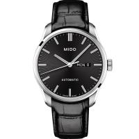 MIDO 美度BELLUNA II系列 時尚紳士腕錶(黑/42mm) M0246301605100