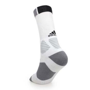 ADIDAS 男籃球襪-襪子 長襪 愛迪達 白黑灰