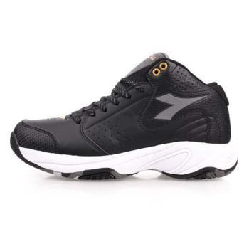 DIADORA 男籃球鞋 2E寬楦-中筒 黑灰