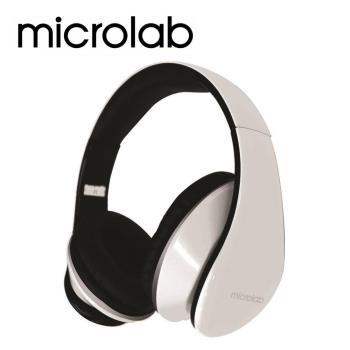 【Microlab】K360多功能立體聲多媒體耳機 (含通訊麥克風) W白