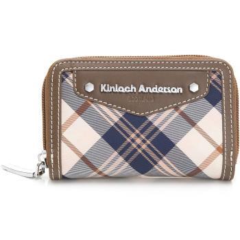 【Kinloch Anderson 金安德森】卡片零錢包 英式學院 拉鍊式-咖啡(KA151207CFF)