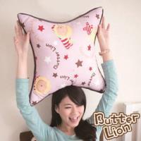 【奶油獅】正版授權 台灣製造-搖滾星星可拆洗方型抱枕-淡紫(一入)