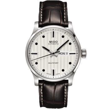 MIDO 美度 Multifort先鋒系列 典藏機械錶(銀x咖啡/42mm) M0054301603180